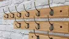 Oak Wood Vintage Hanger for Coat Rack-handmade 6 Hooks -70 Cm
