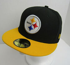 952c9f11d92 New Era Mens 59Fifty Fitted Hat NFL Pittsburgh Steelers Black/Gold Size 6 7/