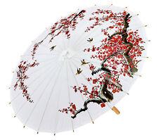 Asiatischer Schirm in weiß NEU - Zubehör Accessoire Karneval Fasching