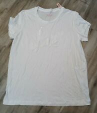 Victoria Secret White Floral Sequin Tee Large *NWT*