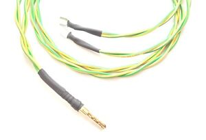 Dual earthing lead suitable for grounding for two devices 1m overall length