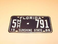 ORIGINAL 1966 FLORIDA POLK COUNTY MOTORHOME LICENSE PLATE # 5MH-791
