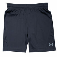 Junior Boys Under Armour Challenger Ii Knit Shorts In Black- Ribbed Waistband-