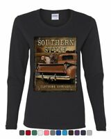 Southern Style Women's Long Sleeve Tee Truck Country Farm Labrador Retriever
