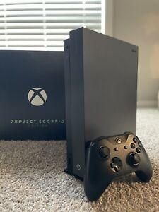 Microsoft Xbox One X Project Scorpio Edition 1TB Console - Black. One Controller