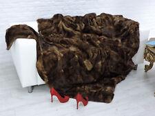 Véritable Luxe Mink Fourrure Couverture Marron #161