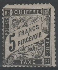 "FRANCE STAMP TIMBRE TAXE N° 24 "" TYPE DUVAL 5F NOIR "" NEUF xx  RARE A VOIR  N587"
