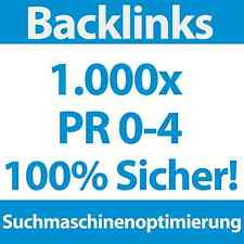 1000 Backlinks PR 0-4 DoFollow/NoFollow | SEO, Linkaufbau für Webprojekt