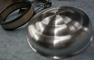 New Street Rod or any Nostalgia ride bell top spun aluminum air cleaner complete