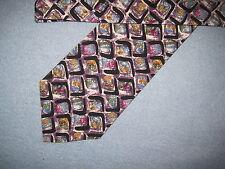 Mens Multi-Color Print Tie Necktie Oscar de la Renta ~ FREE US SHIP (6957)