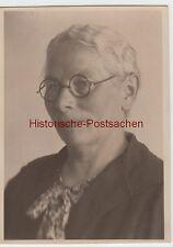 (F10221) Orig. Foto Porträt einer Dame mit Brille, 1930er