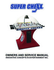 Super Chexx Hockey Owner's Operation/Service/Repair Manual Coin-Op Ice Sega Zz
