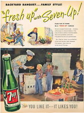 Original 1947 7up Backyard Barbeque ad 10½ x 14 inches tavern trove