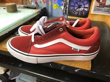 Vans Old Skool PRO (Two-Tone) Madder Brown/Cinnabar  Size US 13 Men VN000ZD4OJE