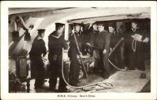 British Navy Ship HMS Victory Gun's Crew c1915 Postcard