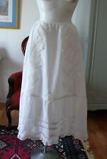 Victorian White Skirt Scalloped Lace Border Xs-S
