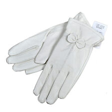 Lady Women's Winter Warm Genuine Lambskin Leather Driving Soft Lining Gloves