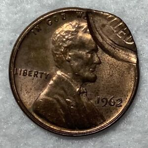 1962 Lincoln Cent Error Coin Double Strike