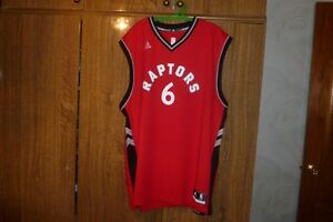 Rare Toronto Raptors Adidas NBA Jersey #6 Cory Joseph Basketball Rap Size 2XL