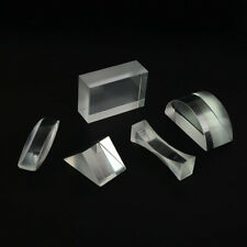 Optical Glass Prism Triangular Concave Semicircle Prisms Set F Science Teaching