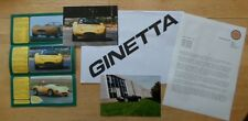 GINETTA G27 & G34 orig 1994 UK Mkt Press Pack / Kit with Brochure