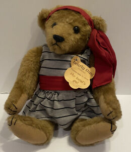 """Vtg Bearly There Linda Spiegal Bear The Locals Gal 1985 Edition 15"""" Jointed"""