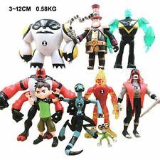 9pcs Ben 10 Ben Tennyson Four Arms Grey Matter Heatblast PVC Action Figures Toys