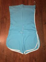 SIZE M BLUE STRAPLESS PLAYSUIT TOWIE/SUMMER/FESTIVAL/IBIZA/CELEB/BOHO/GYM/PARTY