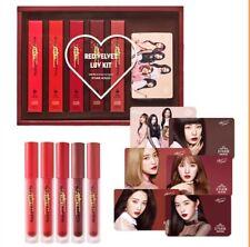 Etude House Matte Chic Lip Lacquer | Red Velvet Luv Kit (5 Lipsticks)