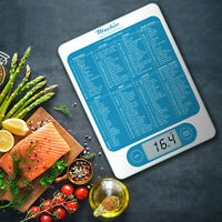 Mackie C19 Digital Kitchen Scale with 160 Foods/Calorie Value Printed on Surface