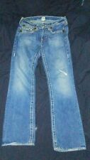 True Religion Size 31 x 33 Bootcut Mens Jeans Distressed Nice Shape Must See