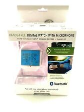Crystal View - Bluetooth Hands - Free Digital Watch With Microphone White