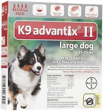 K9 Advantix II Large Dog, 21-55 Lbs - 4 Pack NEW