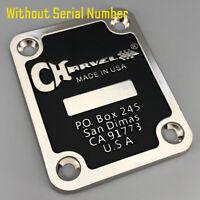 Charvel Guitar Neck Plate No Serial Number Including screws