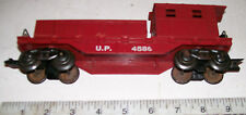 Vintage MARX 8-Wheel DELUXE WORK CABOOSE w/ Tool Boxes  #4586 From 1950s  O-27/O