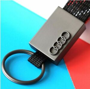 Metal Key Ring  Keychain for Audi Titanium Alloy + Fabric with Scottish Tarta