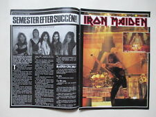 Iron Maiden Bruce Steve Adrian Taylor Duran Duran Stranglers clippings Sweden