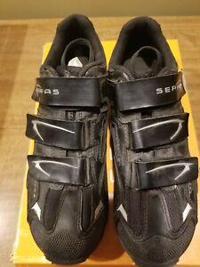 Serfas Women's Saddleback MTB Shoe Size 38 6M SPD Hook Loop Black Mountain Bike