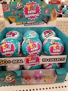 5 Surprise TOY MINI Brands Zuru Full Case 12 Balls w/Display Box NEW FREE SHIP!!