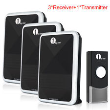 1Byone Wireless Doorbell Door Chime Kit With 3 Receivers 100M Range 36 Melody UK