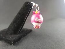 Sanrio Hello Kitty Pink Yellow 2007 Mini Figure Bracelet Backpack Charm Zipper
