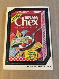 1973 Wacky Packages 4th Series 4 Rare Bum Chex