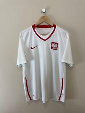 POLAND 2009/10 Home Shirt (L) Nike Vintage Retro Football Soccer Shirt