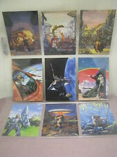signed by artist, Tom Kidd Art Trading Cards complete 90 card set