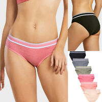 Lot of 6 Women Cotton Bikini Panties Briefs Set Ladies Underwear Panty Pack S~XL