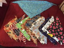 Dog Bandanas - set of 11 -- Colors and holidays represented