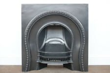 Antique mid Victorian cast iron fireplace insert