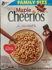 NEW GENERAL MILLS FAMILY SIZE MAPLE CHEERIOS CEREAL 19.8 OZ BOX GLUTEN FREE BUY