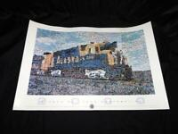 Alaska Railroad Poster 2000 Mosaic by Robert Silvers Train Photo Collage