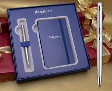 Waterman Hemisphere Ballpoint Pen Gift Set - Stainless Steel Chrome Trim